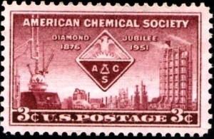75 ans de l'American Chemical Society, fondée en 1876 (YT 553)