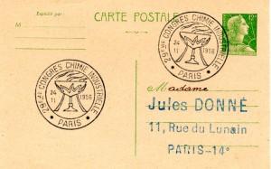 Flamme philatélique sur entier postal