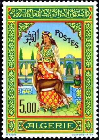 miniature de Mohamed Racim, timbre algérien émis en 1965