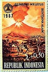 Gunung Meletus éruption