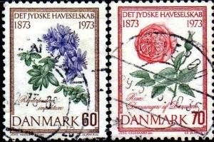 danemark fleurs YT 584, 585